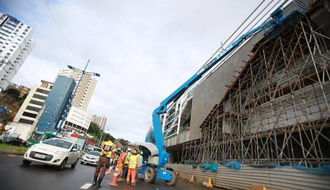 Inauguração da Estação Bonocô está prevista para o próximo dia 13 - Foto: Joá Souza l Ag. A TARDE l 26.06.2015