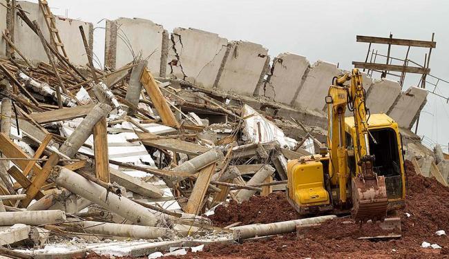 Pare da arquibancada do estádio desabou - Foto: Marcelo Gonçalves   Sigmapress   Estadão Conteúdo