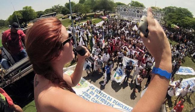 Estudantes se reuniram no Parque da Cidade, em Brasília, para a manifestação em defesa da democracia - Foto: Reprodução | Facebook