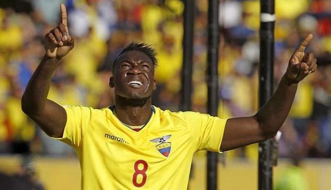 Caicedo comemora comemora seu gol na vitória sobre a Celeste - Foto: Guillermo Granja l Reuters