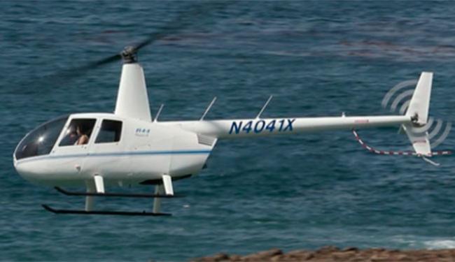 Helicóptero foi roubado por homem vestido de Papai Noel em São Paulo - Foto: Reprodução