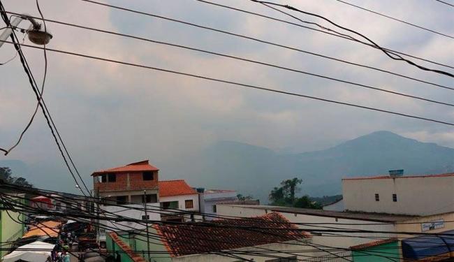 Neblina ajudou no combate ao incêndio em Ibicoara - Foto: Tayne Luz Casca | Reprodução | Facebook