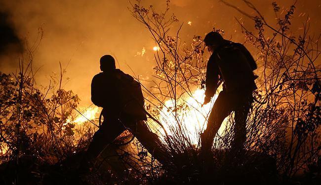Chamas não recuaram no quarto dia de incêndios - Foto: Dimitri Argolo Cerqueira   Divulgação