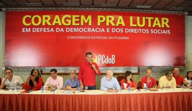 Jaques Wagner participou da conferência estadual do PCdoB - Foto: Fernando Udo | Divulgação