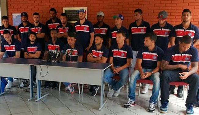 Jogadores solicitaram à direção fazer o pronunciamento para se desculpar com a torcida - Foto: Divulgação   Site Oficial do Bahia