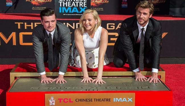Os atores marcaram uma placa de cimento do TCL Chinese Theatre - Foto: Mario Anzuoni | Ag. Reuters