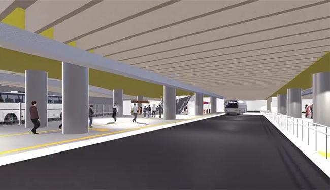 As obras já estão 70% avançadas e a estação ficará pronta em fevereiro de 2016 - Foto: Reprodução | Youtube | Prefeitura de Salvador