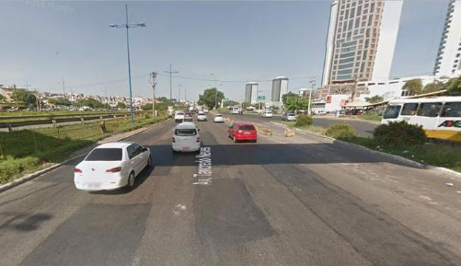 O engavetamento aconteceu por volta das 12h25, na Ligação Iguatemi-Paralela - Foto: Google Maps