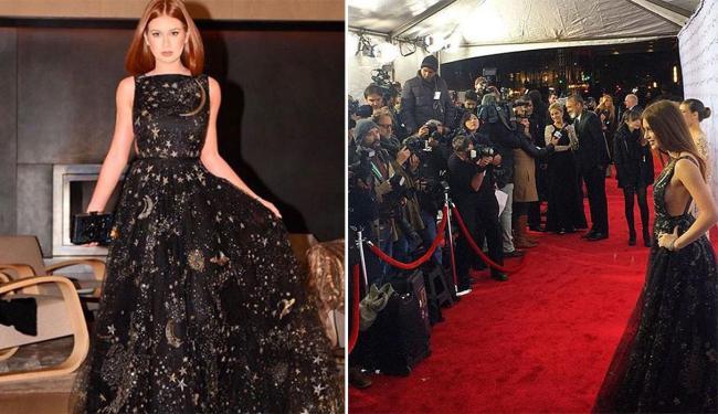 Atriz chamou atenção com vestido Valentino - Foto: Reprodução | Instagram