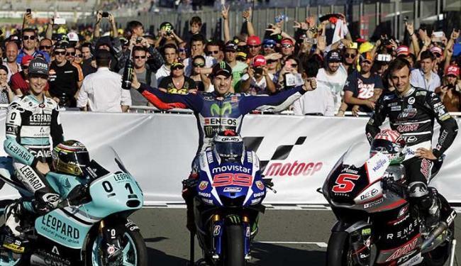 As posições de Jorge Lorenzo, Marc Márquez e Dani Pedrosa deixaram Valentino Rossi em quarto - Foto: Heino Kalis | Ag, Reuters