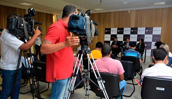 Promotores Adriano Assis, Raimundo Moinhos e Ana Luzia Santana falaram sobre operação - Foto: Karol Melo   Ceom   MPBA
