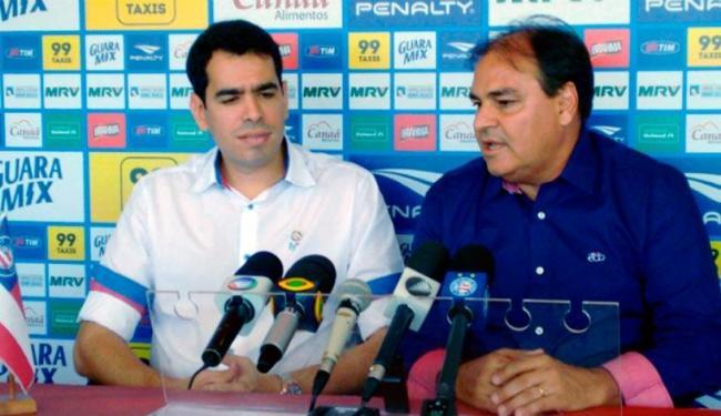 Pandolfo foi apresentado em coletiva na manhã deste domingo pelo presidente do clube - Foto: Reprodução | Esporte Clube Bahia