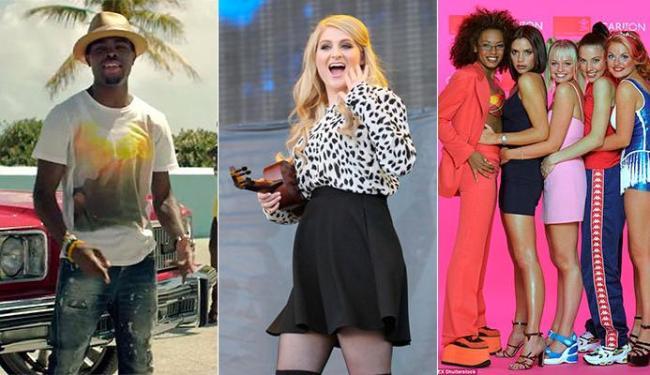 Músicas de OMI, Meghan Trainor e Spice Girls lideram a lista - Foto: Divulgação