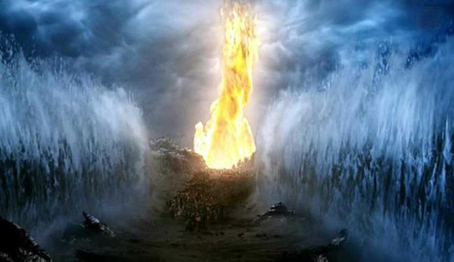 Cena da abertura do Mar Vermelho foi exibida na noite desta terça, 10 - Foto: Reprodução | TV Record
