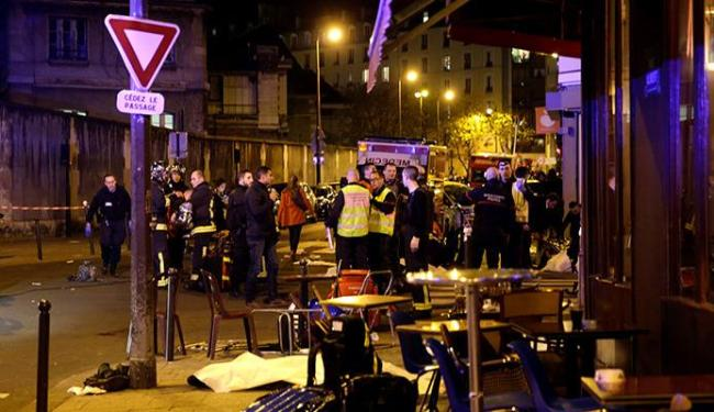 Restaurante em Paris foi metralhado - Foto: Ag. Reuters