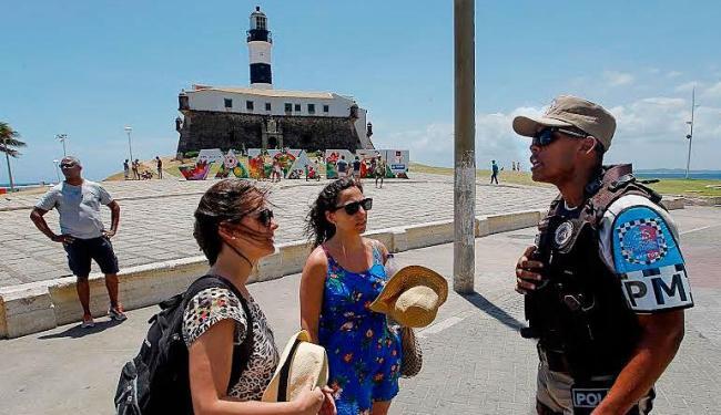 PM aumentou em 25% o efetivo em pontos turísticos e praias de Salvador - Foto: Carol Garcia | GovBA | Divulgação