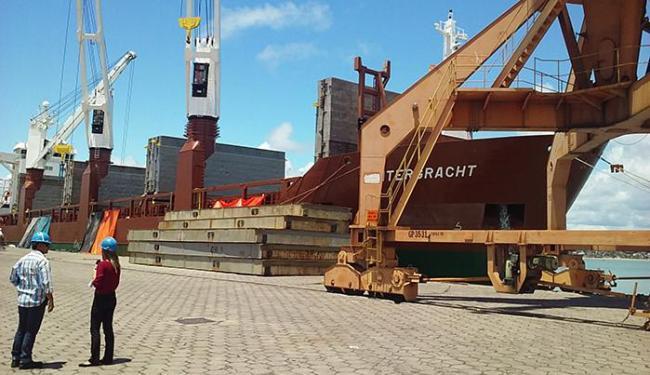 Cargill enviou 6 mil toneladas de amendôas de cacau do Porto de Ilhéus para a Holanda - Foto: Milton Andrade Jr l Divulgação