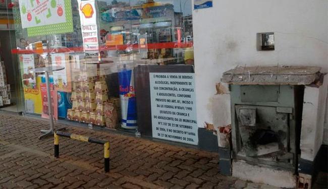 Bandidos queriam abrir cofre em posto de combustível - Foto: Edilson Lima | Ag. A TARDE