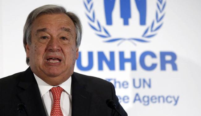 Antonio Guterres pediu à comunidade internacional uma resposta