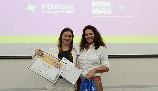 Regiane Batista (à esquerda) teve projeto reconhecido - Foto: Fieb l Divulgação