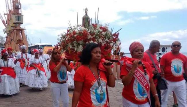Evento em homenagem ao santo foi criado por estivadores e carregadores do porto - Foto: Edilson Lima | Ag. A TARDE