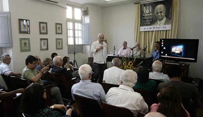 Evento na ALB contou com pesquisadores e admiradores da obra do homenageado - Foto: Luciano da Matta l Ag. A TARDE