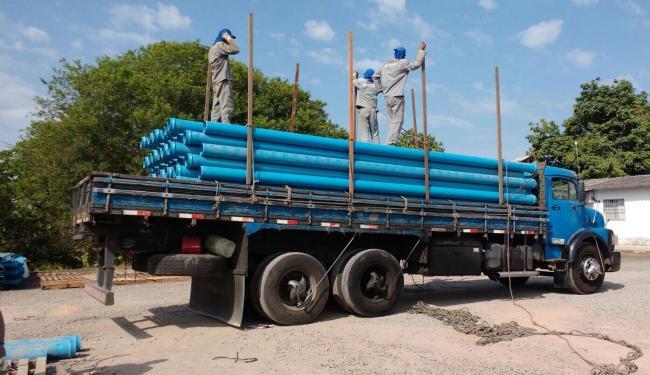 Quatro caminhões contendo equipamentos para captação de água foram enviados às cidades - Foto: Ascom   SIHS