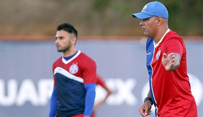O mistério foi a tônica do último treino do Tricolor antes do jogo desta terça-feira - Foto: Felipe Oliveira l E.C. Bahia