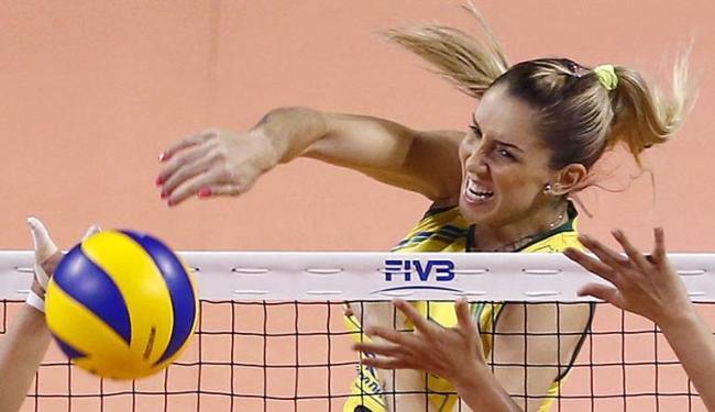 Por conta das cirurgias, Thaisa ficou de fora de toda a temporada da seleção brasileira - Foto: AP Photo | Shizuo Kambayashi