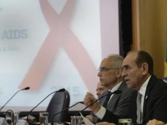 O ministro Marcelo Castro lança campanha de prevenção e apresenta números da aids no Brasil - Foto: Elza Fiúza   Ag. Brasil