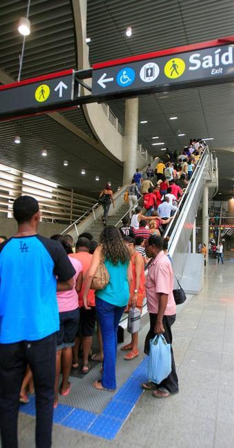Usuários continuam tendo o uso gratuito do metrô - Foto: Adilton Venegeroles l Ag. A TARDE