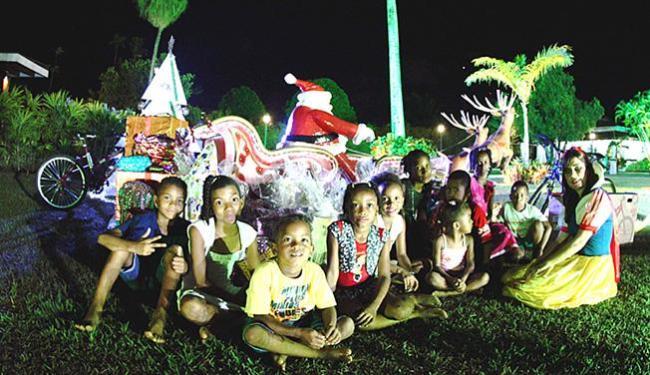 Crianças em ação natalina das Voluntárias Sociais - Foto: Carla Ornelas l GovBA