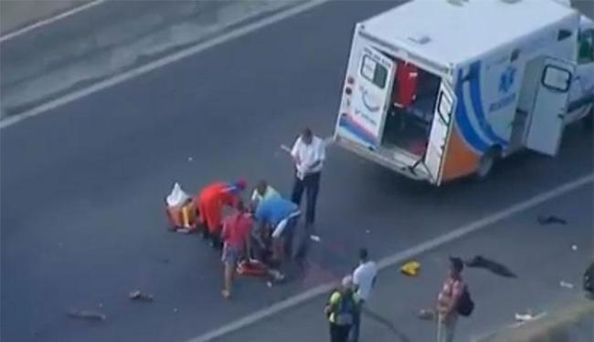 A vítima foi atendida pela Via Bahia - Foto: Reprodução   TV Bahia
