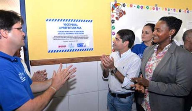 ACM Neto durante reinauguração de centro de educação infantil no Pau Miúdo - Foto: Divulgação l Agecom