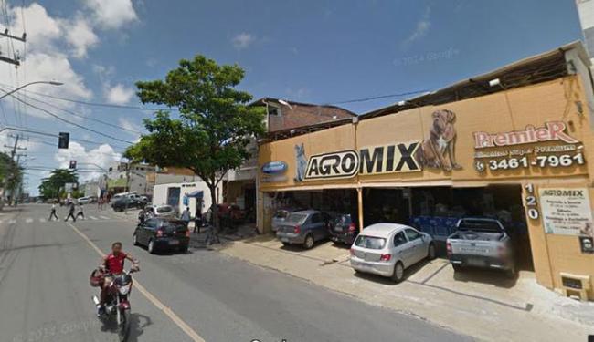 O galho da árvore caiu próximo à loja Agromix - Foto: Google Maps