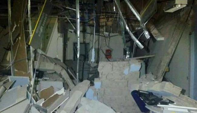 Agência ficou destruída após a explosão - Foto: Reprodução | Site Bahia10