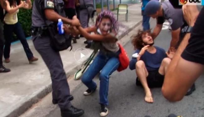 Andreza foi detida durante um protesto na zona oeste de SP na quinta-feira - Foto: Reprodução