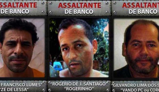 'Zé de Lessa', 'Rogerinho' e 'Vando PC' estão entre os mais procurados - Foto: Divulgação | Polícia Civil