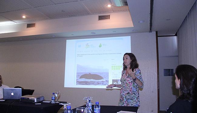 Professora da Universidade Federal de Pernambuco, Beatrice Padovani ministra palestra - Foto: Franco Adailton l Ag. A TARDE