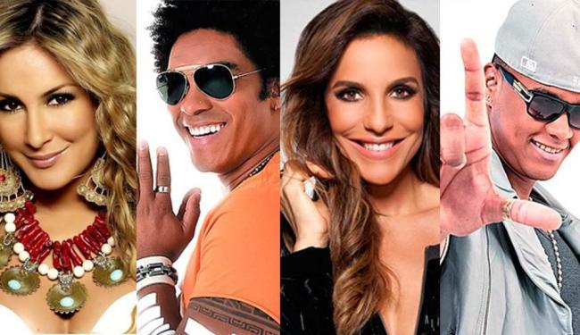 Claudia Leitte, Denny, Ivete Sangalo e Léo Santana mandaram mensagens para os leitores - Foto: Divulgação