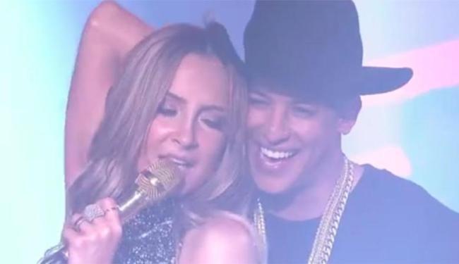 Ao lado de Daddy Yankee, Claudinha sensualizou e sambou durante a apresentação - Foto: Reprodução   TV Globo