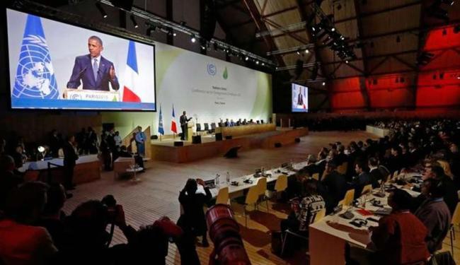Lideres mundiais, como o presidente dos EUA Barack Obama, participam da COP 21 - Foto: Stephane Mahe   Agência Reuters