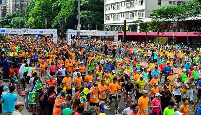 Ao lado de corredores de elite, atletas anônimos de todo o Brasil participam da prova - Foto: Rovena Rosa/Agência Brasil
