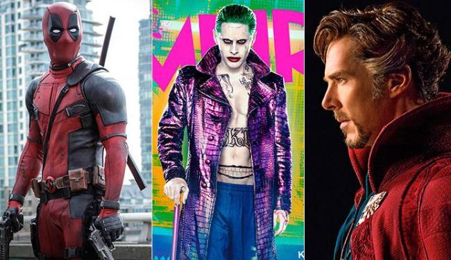 Deadpool, Esquadrão Suicida (com o Coringa) e DOutor Estranho vão invadir o cinema - Foto: Divulgação