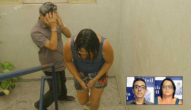 Eduardo e Maria tentavam contrair empréstimo com documentos falsos, mas gerente chamou a PM - Foto: Edilson Lima | Ag. A TARDE e Divulgação l Polícia Civil