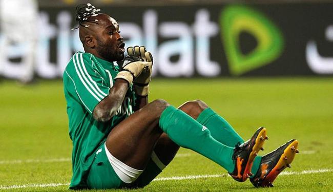 Destaque em 2010, goleiro Kidiaba está de volta com o Mazembe - Foto: Hassan Ammar l AP Photo
