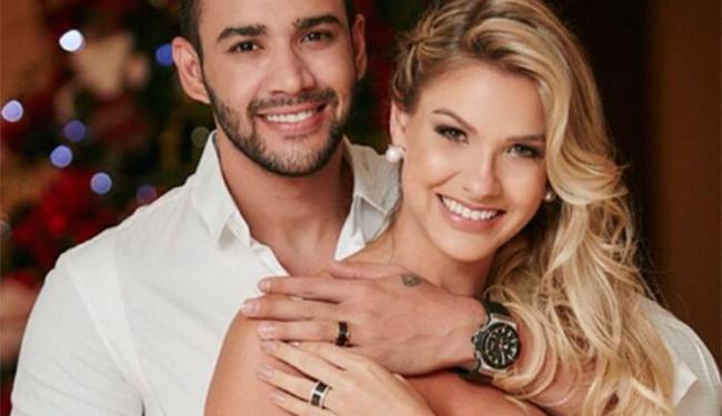 Gusttavo e Andressa se casaram no civil nesta terça, 15, em cerimônia em sua casa - Foto: Reprodução | Instagram