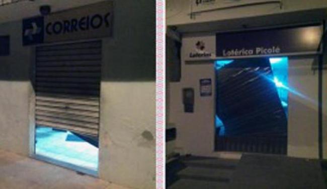 Bandidos arrobaram cofres dos dois estabelecimentos na madrugada desta terça - Foto: Reprodução | Site Bahia 10