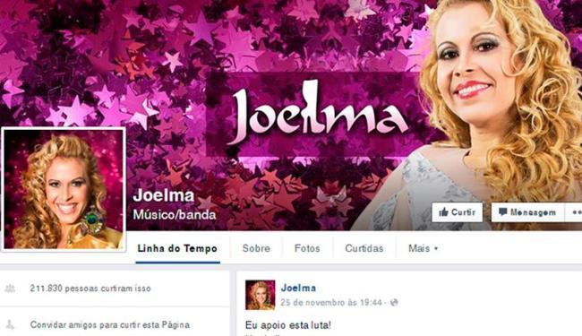 Joelma já alterou o nome artístico em suas páginas nas redes sociais - Foto: Reprodução   Facebook