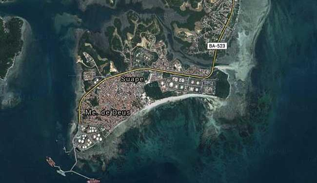 Naufrágio aconteceu na região do Canal de Madre de Deus - Foto: Reprodução | Google Maps
